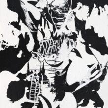En svart-vit målning av C.Brüggmann